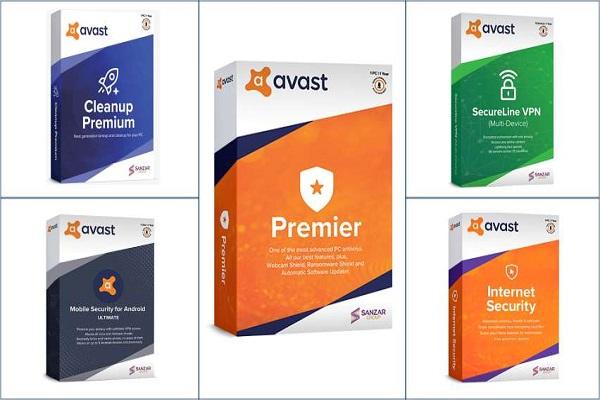 Các dòng sản phẩm của Avast