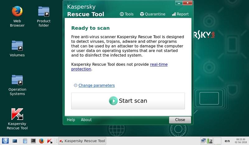 Nhấp vào Kaspersky Rescue Tool để chạy phần mềm