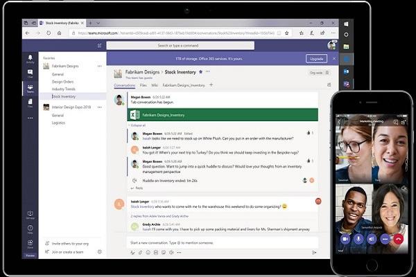 Sử dụng Microsoft 365 bản quyền, bạn có thể chat trực tiếp với các thành viên trong thời gian làm việc tại nhà mùa dịch