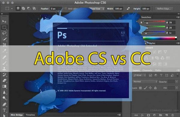 So sánh Photoshop CS6 và CC