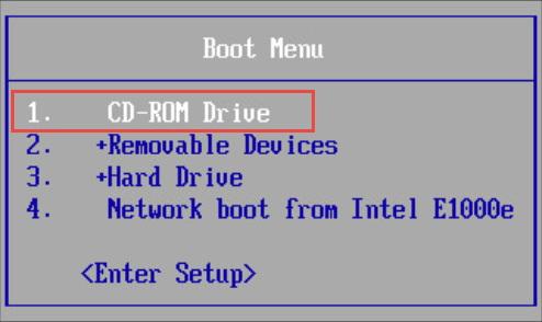 Giao diện Boot Menu trong BIOS